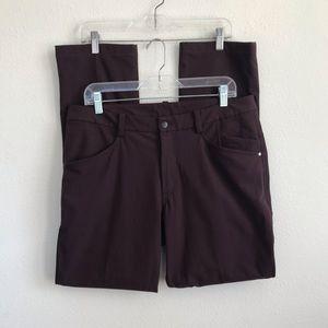 Lululemon ABC Burgundy 5 pocket Pants 34